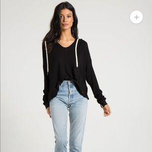 Philanthropy | Black Pullover Hoodie Thermal Shirt